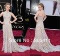 Freeshipping New Lindo Trumpet Halter Apliques Vestido de Prêmios oscar Celebrity Dress