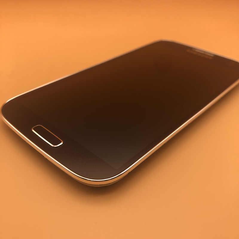 5.0 ''شاشة LCD الأصلية لسامسونج غالاكسي S4 i9506 i9500 i9505 i337 LCD تعمل باللمس عرض محول الأرقام + الجمعية الإطار الحافة