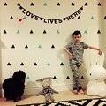 INS estilo bonito do bebê Adesivo de Parede Removível À Prova D' Água PVC Nenhum material Poluição para as crianças decoração do quarto