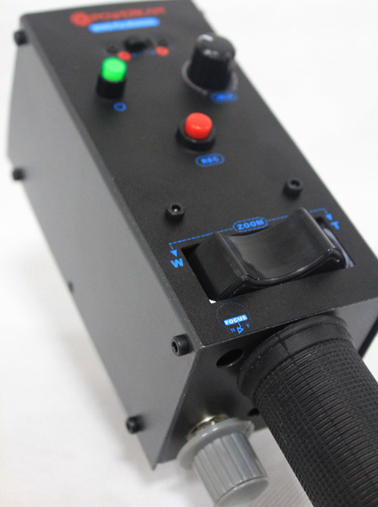 ENG zoom controller with iris focus controls for lens from FUJI or CANON with 8 pin interace eng