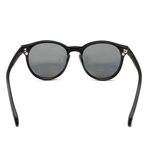 Image 5 - Fashion Round Optical Spectacle Frame Women With 5 Clip On Sunglasses Polarized Magnetic Glasses For Female Myopia Eyeglasses