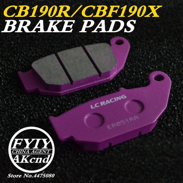 אופנוע בלם קדמי רפידות בלם קליפר בלם pad עבור הונדה CB190R CBF190X 16 18, CRF250L CR250R CBR125 MSX 125 D Grom