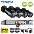 Sistema de CCTV 8CH H.264 + 3.0MP 4.0MP 4500TVL CVI TVI AHD Analógica ip de la cámara 4 en 1 híbrido grabador de vídeo motion detectar ahd sistema