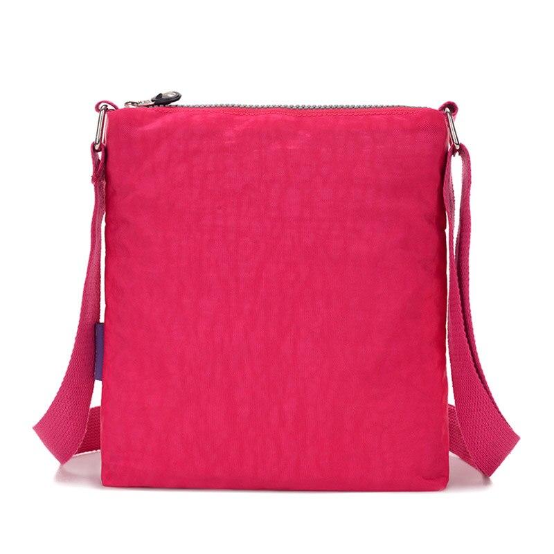 JINQIAOER Stylish Small Nylon Messenger Bag Women Waterproof Crossbody Bags Double Layer Satchels Shoulder Bag For Iphone Bolsa