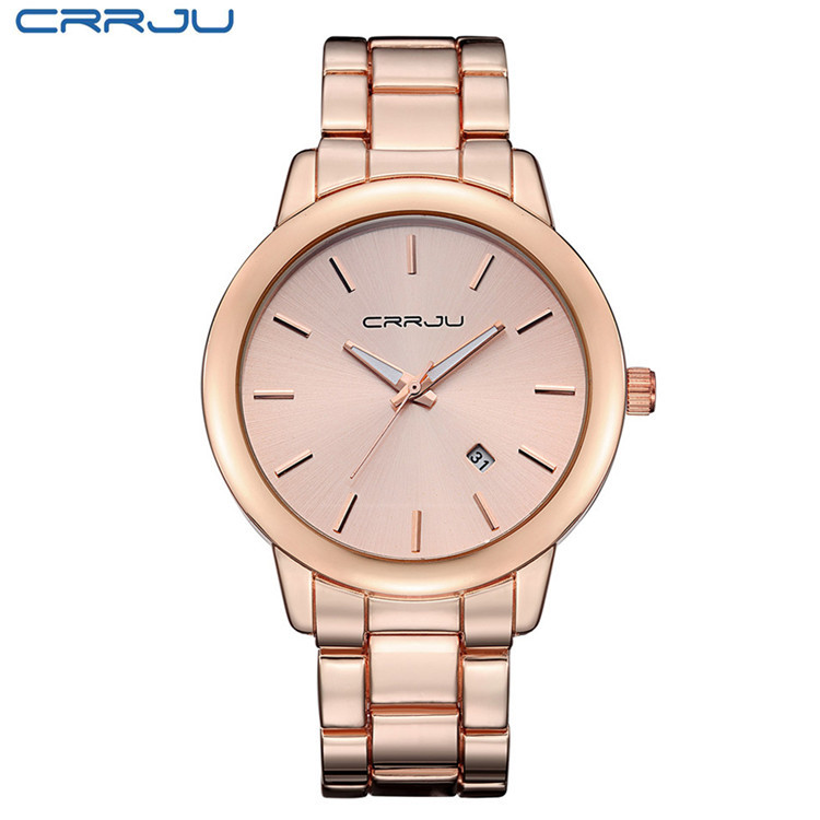 Relogio Masculino 2016 New High Quality Women Dress Watch CRRJU Luxury Brand Stainless Steel Watches Fashion Men Wristwatches 2016 new high quality women dress watch crrju luxury brand stainless steel watches fashion wrist gift watch men wristwatches