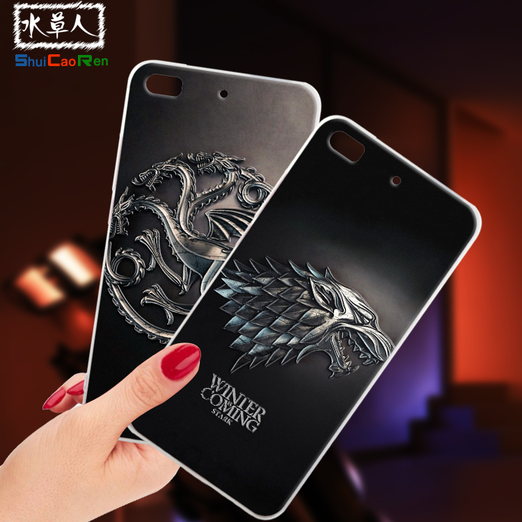 ShuiCaoRen Silicone <font><b>Cases</b></font> For <font><b>Philips</b></font> Xenium <font><b>X818</b></font> <font><b>Case</b></font> Game of Thrones Black Shell For <font><b>Philips</b></font> <font><b>X818</b></font> Cover image