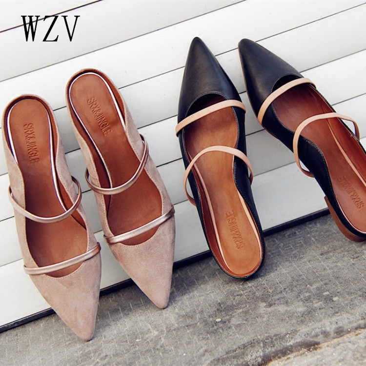 WZV verano 2017 mujeres de la manera zapatos de los planos ocasionales femeninos