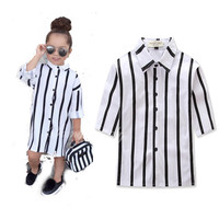 Ins Explosions Girls Dresses Summer Children Europe And The United States Princess Dress Black And White