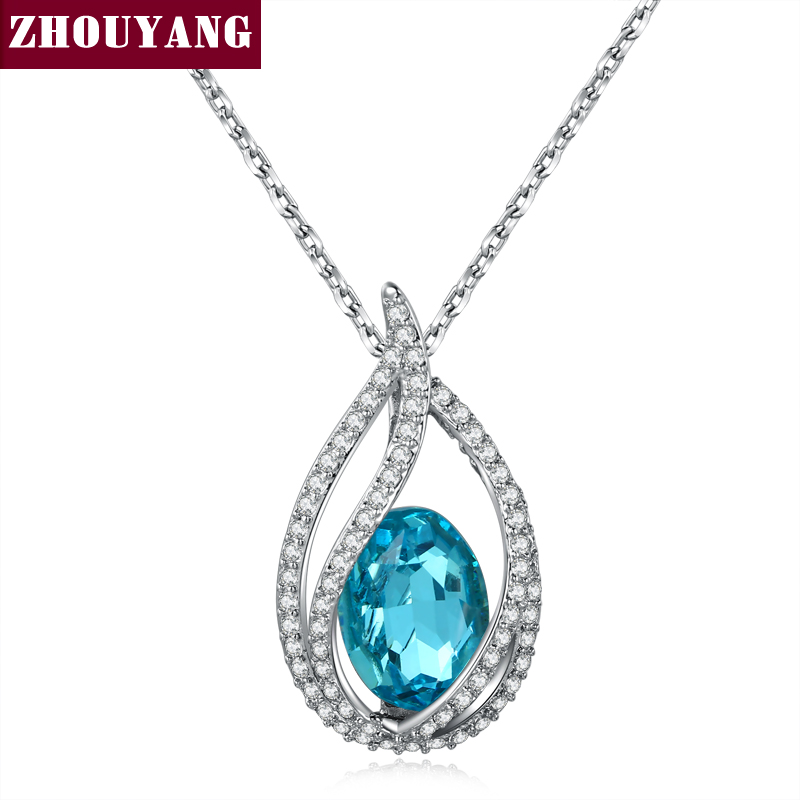 Top Quality Ocean Blue Angel's Tears Silver Color Pendant s