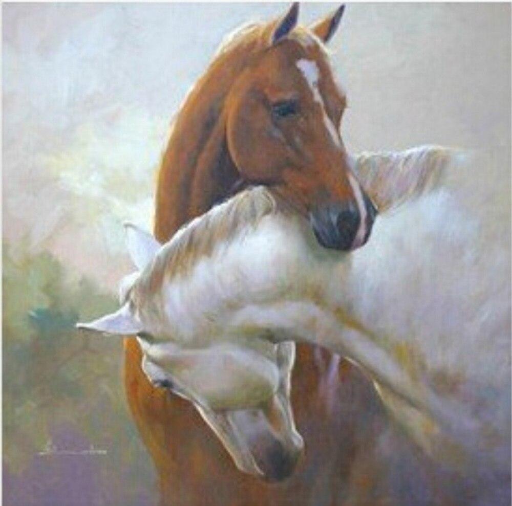 Очаровательный Ручной импрессионистской высокое качество картина маслом лошадь