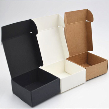 Sample Black kraft soap packaging box white Brown Kraft soap Box, black Gift cookies Boxes ,Wedding candy kraft box embroidery