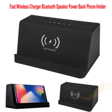 Wireless Charger Bluetooth Speaker 4000 MAh Portable Woofer Smart Charging Support TF Card With Mic Hand-Free