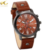 Lancardo Men Watches Man Clock 2017 Top Brand Luxury Army Military Men Leather Watch Male Sports