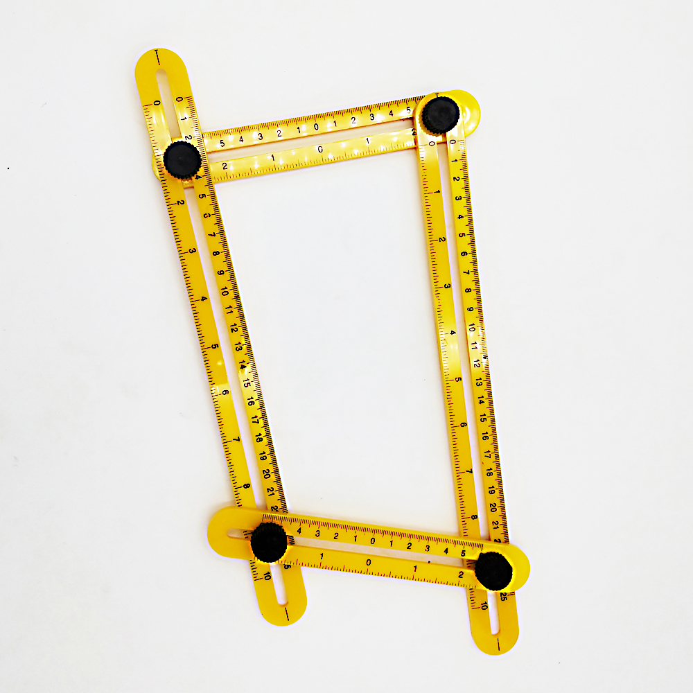 1pcs Multifunction Four Square Feet Multi-angle Drawing Folding Ruler Length 30cm Scale 25cm Hardware Measuring Tools