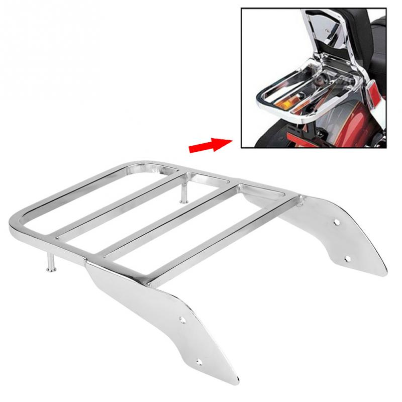 Motorcycle Rear Luggage Rack for Sissy  Bar for Honda Shadow VT750 C2 1997 1998 1999 2000 2001 2002 2003 Chrome SilverMotorcycle Rear Luggage Rack for Sissy  Bar for Honda Shadow VT750 C2 1997 1998 1999 2000 2001 2002 2003 Chrome Silver