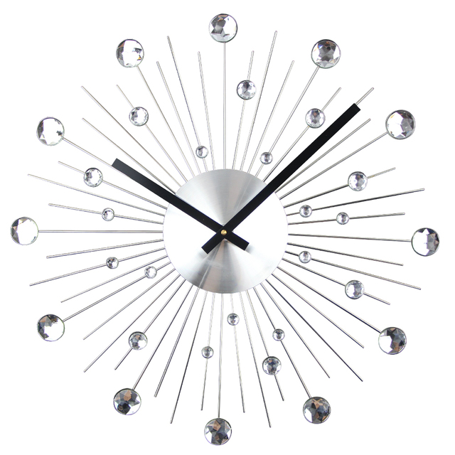 Metal wall clock decor