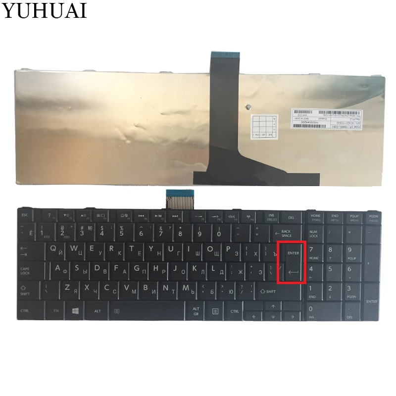 new Russian Keyboard for TOSHIBA SATELLITE C850 C855D C850D C855 C870 C870D C875 C875D L875D RU laptop keyboard image