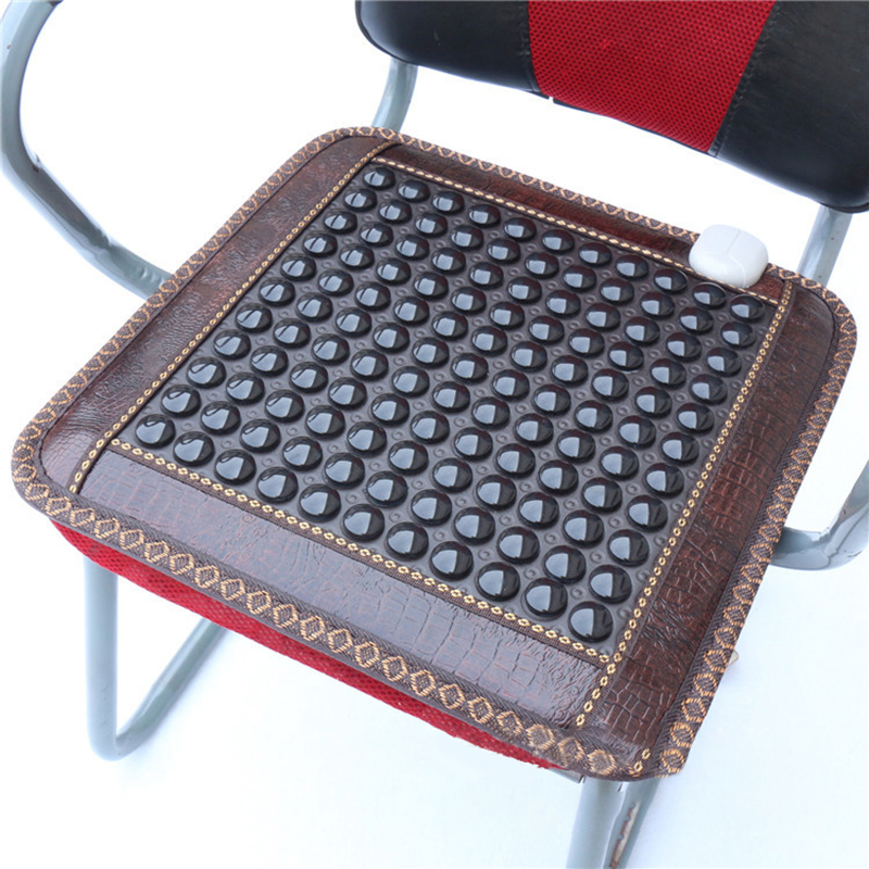 Image 5 - New Infrared Heating Mat Natural Jade Tourmaline Massage Pad Pain Relief Back Waist Leg Relieve Muscle Health Care Seat Mat 220V-in Massage & Relaxation from Beauty & Health