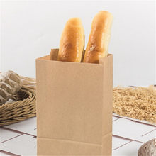10pcs Brown Kraft Paper Gift Candy Bags Wedding Packaging Bag Environmental Food Bread Party Shopping Bags(China)