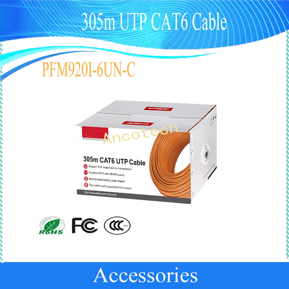 Dahua Security Cable 305m UTP CAT6 Cable CCTV Accessories Without Logo PFM920I-6UN-C ...