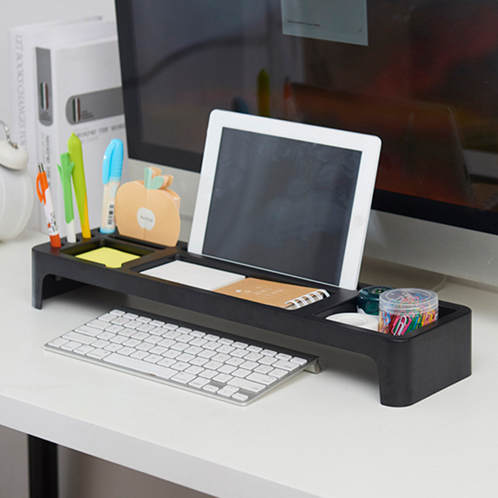 Plastic Computer Rack Keyboard Shelf For Phone  Desktop/ stationary Organizer Table Storage Shelves Office
