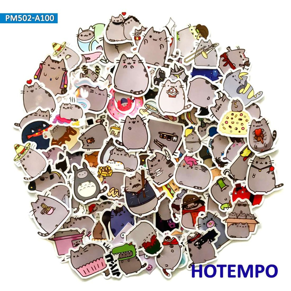 100pcs Cute Cartoon Fat Emoji Cats Stickers for Children Kids DIY Letter Diary Scrapbooking Mobile Phone Laptop Decal Stickers100pcs Cute Cartoon Fat Emoji Cats Stickers for Children Kids DIY Letter Diary Scrapbooking Mobile Phone Laptop Decal Stickers