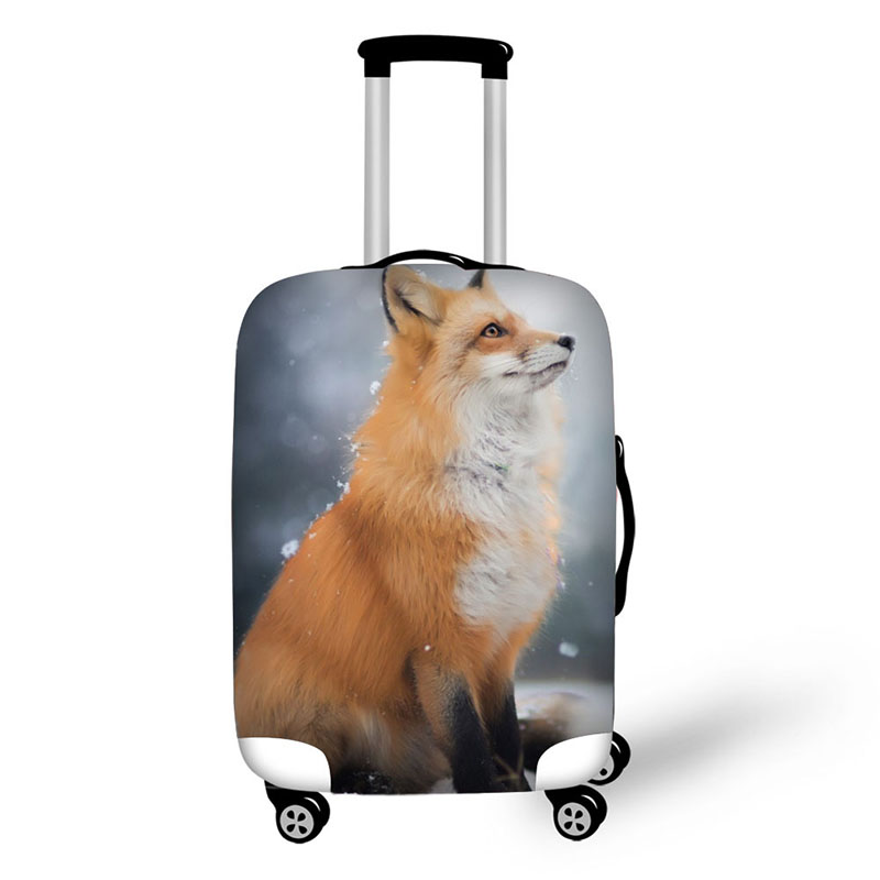 Case Cover Cute Fox Elastic Travel Accessories For 18-32 Inch Suitcase Luggage Protect Covers Fashion Cover For Suitcase