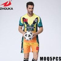 Construire votre propre jersey maillots de football réel plaine col rond t-shirt