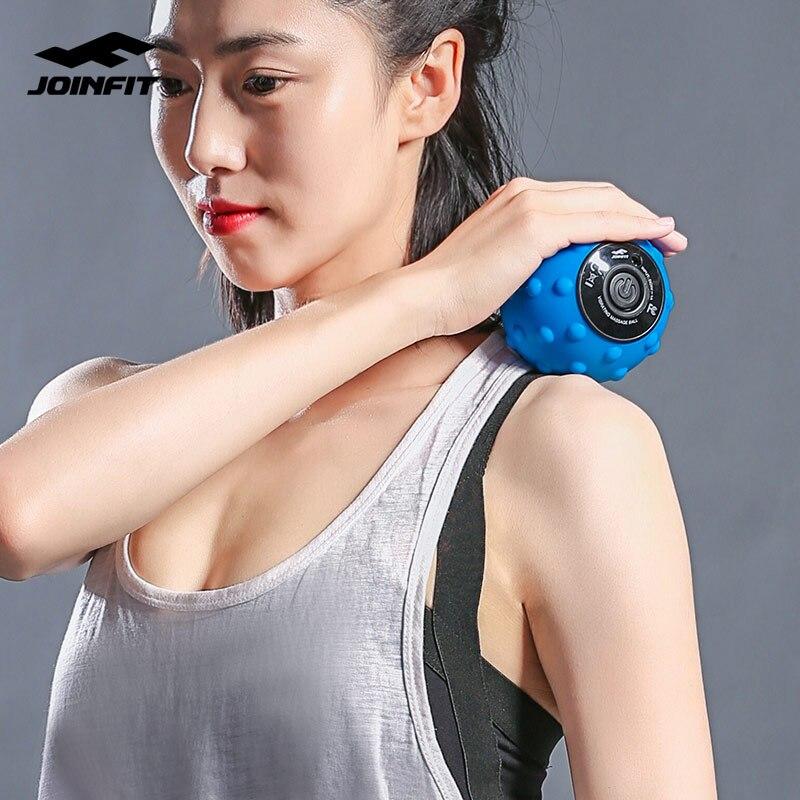 Massage vibrant électrique boule de choc Fascia détendre les Muscles des vertèbres cervicales Fitness musculation auto-chauffage