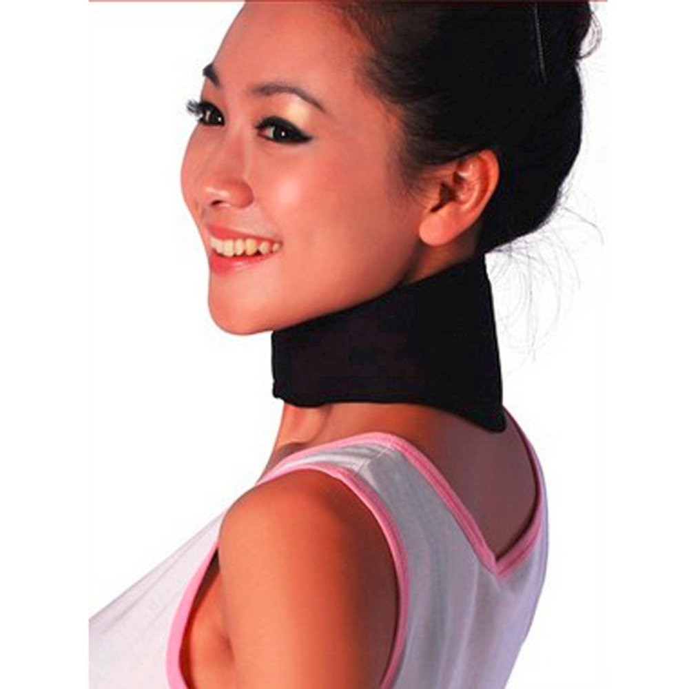 Hot Fashion Magnetic Therapy Neck Support Protection Spontaneous Tourmaline Heating Headache Belt Neck Massager Drop Shipping