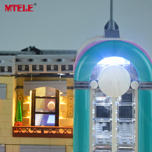 Image 4 - MTELE Brand LED Light Up Kit Toy For 10260 Down town Diner Creator City Street Lighting Set Compatile With 15037