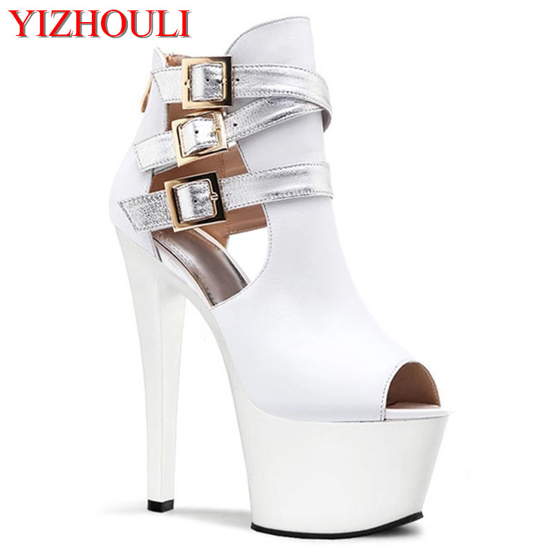 2018 Fashion <font><b>sexy</b></font> with single stage yards of shoes fashion runway model with <font><b>17cm</b></font> <font><b>high</b></font> <font><b>heels</b></font> image