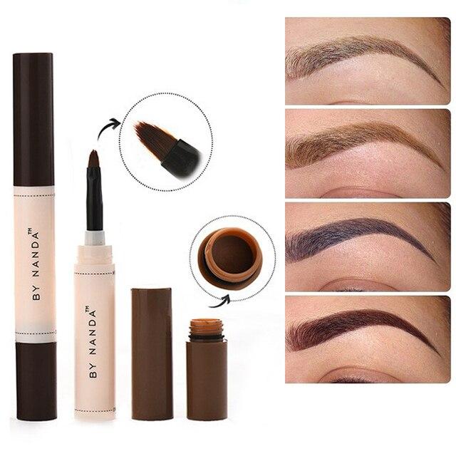 By Nanda Brand Long Lasting Waterproof Eyebrow Tint Gel Black Brown