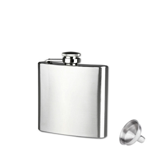1pc Portable 6Oz pocket whiskey Liquor pot stainless steel Hip Flask Alcohol outdoor hiking travel liquid container on sale
