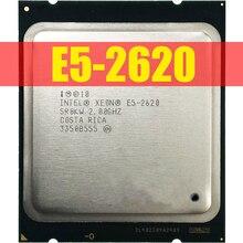 Intel Xeon E5 2620 E5 2620 2.0 GHz sześć Core dwunastu nici procesor CPU 15 M 95 W LGA 2011 darmowa wysyłka