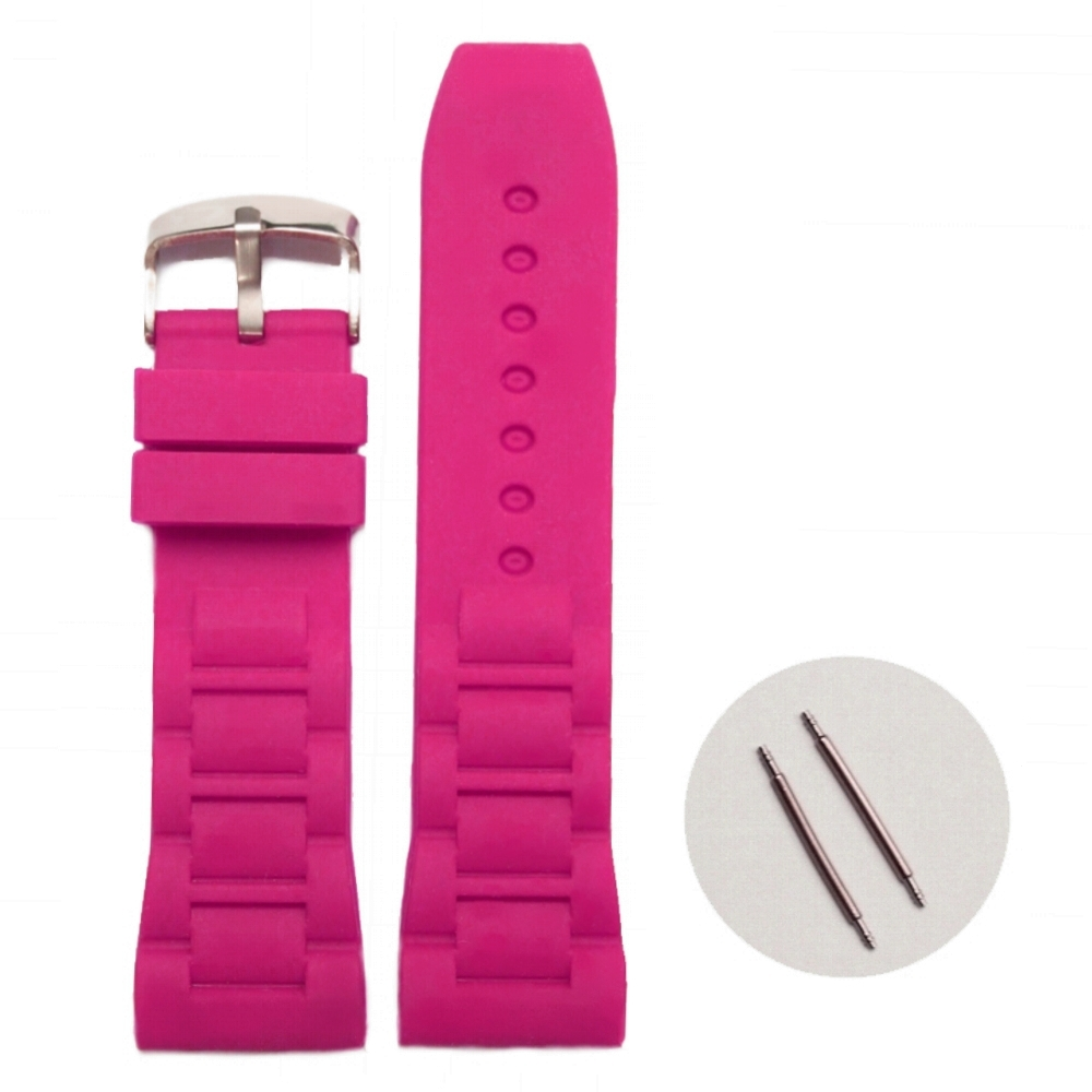 26mm Hot Sell Magenta Silicone Jelly Rubber Ladies Watch Band Straps WB1059J26JB