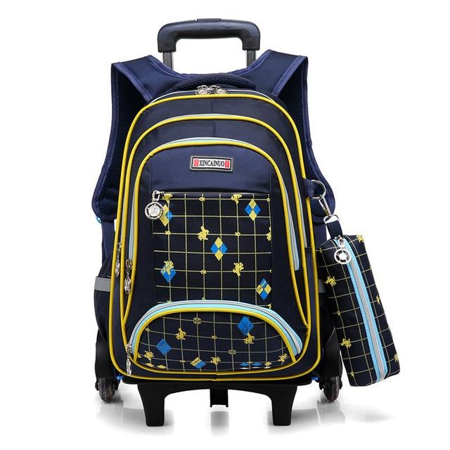 c9bc12cf9821 Kids Rolling Backpack Boys Wheeled Book Bag Children Trolley School Bag  Travel Backpack for Girls satchel with 3 wheels mochilas
