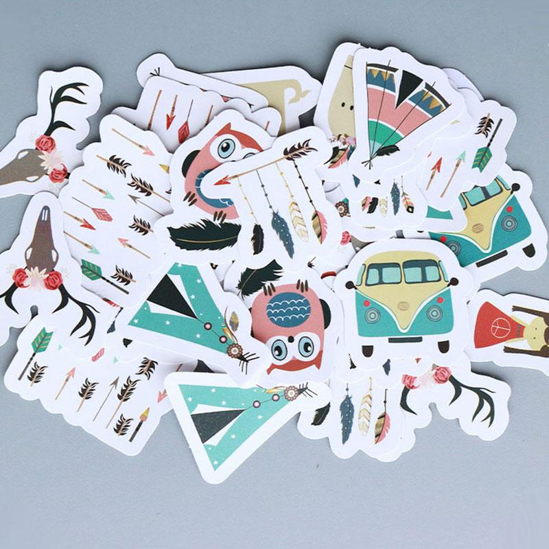 40 pcs/bag Dreamcatcher paper sticker decoration diy scrapbooking Gift bag sticker children's favorite stationery