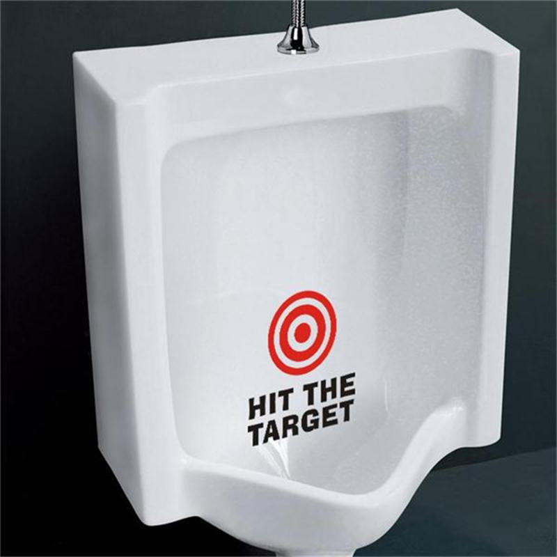 Creative Warn Hit The Target Bathroom Sign Vinyl Sticker For Office Home Cafe Hotel Toilets Door Decoration In Wall Stickers From Garden On