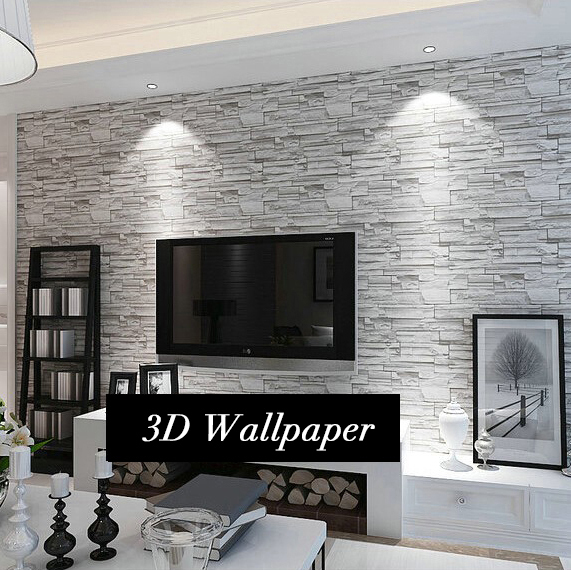 Moderno 3d ladrillo papel pintado del pvc impermeable del - Papel pintado pared salon ...