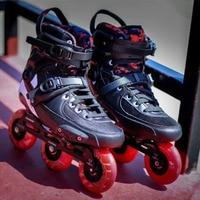2019 Оригинал Powerslide Тау TRINITY 3*90 мм углеродного волокна скоростные роликовые коньки для взрослых Обувь для роликов, скейтборда Бесплатная роли