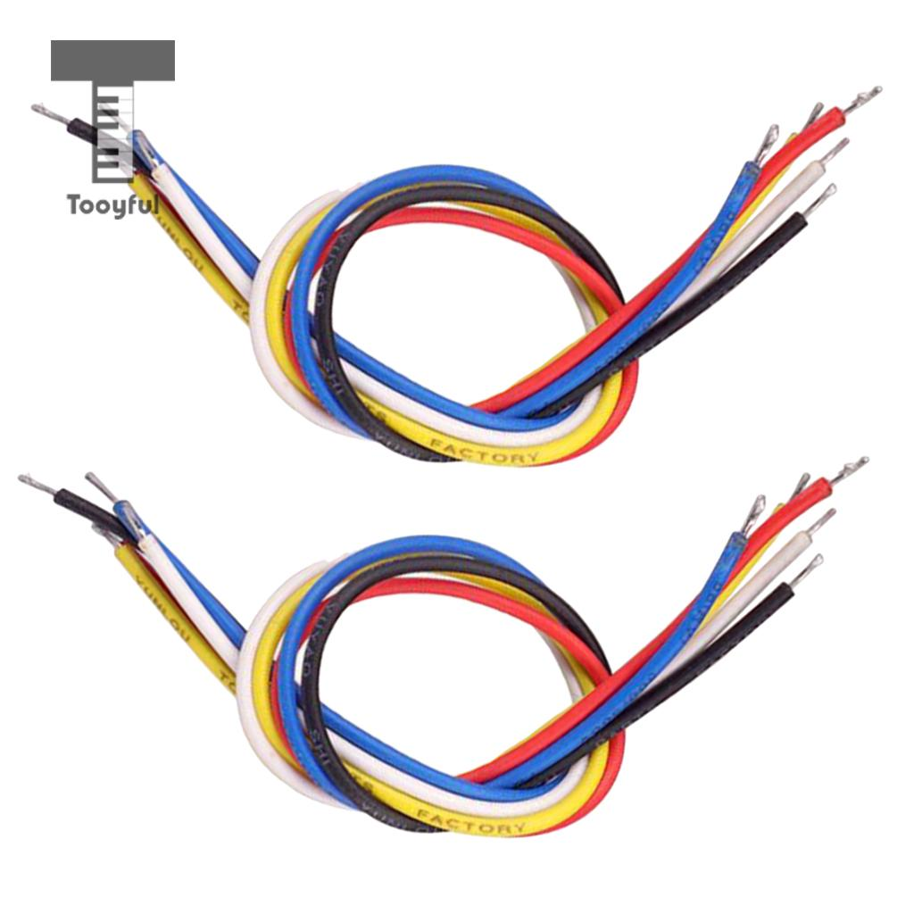 Tooyful 10Pcs 19cm Colorful Inner Circuit System Connecting Wire Cable Circuit Line Electric Guitar Bass Parts Guitarist Tools image