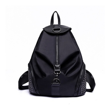 MIWIND Brand Fashion Women Backpacks Rivet Black Soft Washed Leather Bag Schoolbags For Girls Female Leisure Bag mochilas cool walker women backpack leisure travel package black pu leather bag schoolbags for girls female leisure bag mochilas feminina