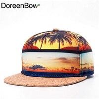 DoreenBow New Fashion Man Baseball Caps Hat Adjustable Scenery Coconut Beach Yellow Summer Spring 1Piece