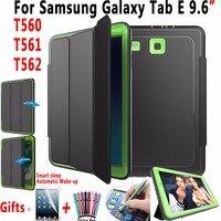 Magnet Smart Auto Sleep AWake Case For Samsung Galaxy Tab E 9 6 T560 T561 Trifold