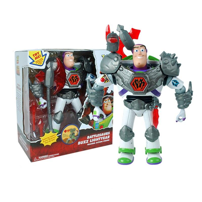 Toy Story 3 figurines mobiles 12 pouces parlant Buzz Lightyear modèle voix parlent jouets enfants cadeau