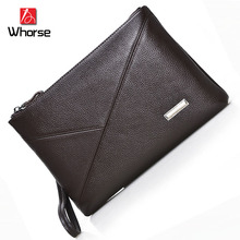 Brand Logo ! Mens England Style Genuine Leather Wallet Male Large Zipper Clutch Purse Casual Cowhide Wallet for Men