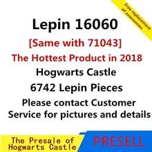 В наличии Лепин 16060 Гарри фильм Поттер Хогвартс замок устанавливает модель здания Наборы блоки для детей Совместимые Legoing 71043