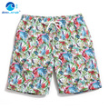 men's beach pants male quick-drying loose big yards The seaside swimming trunks ink printing spa shorts