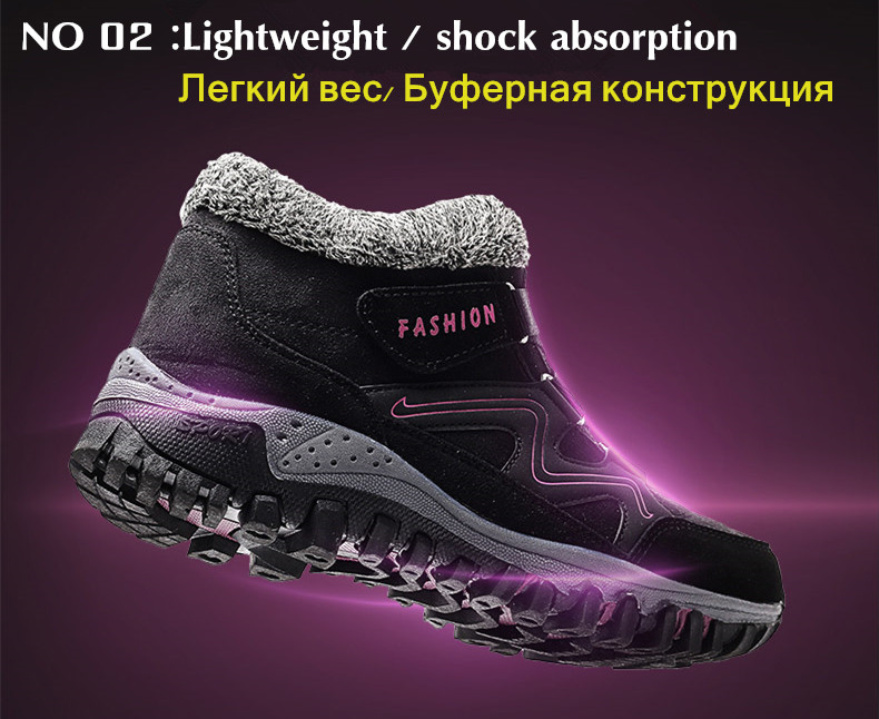 STS BRAND 2019 New Winter Ankle Boots Women Snow Boots Warm Plush Platform Boot Fashion Female Wedge Shoes Snow Waterproof shoes (6)